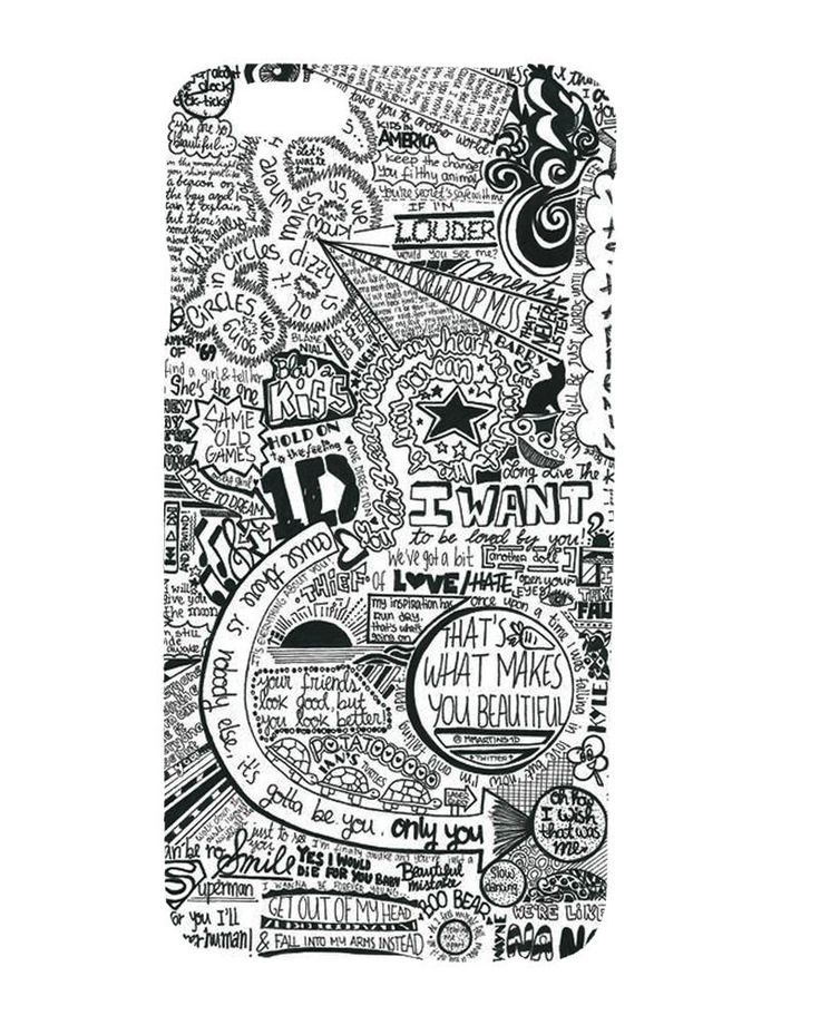 One Direction 1D Graffiti Art Collage Design Hard Case Cover For iPhone 6 & Plus - $7.55