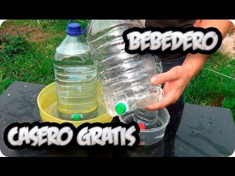 Como Hacer Un Bebedero Casero Para Gallinas o Animales Gratis || La Huertina De Toni - YouTube