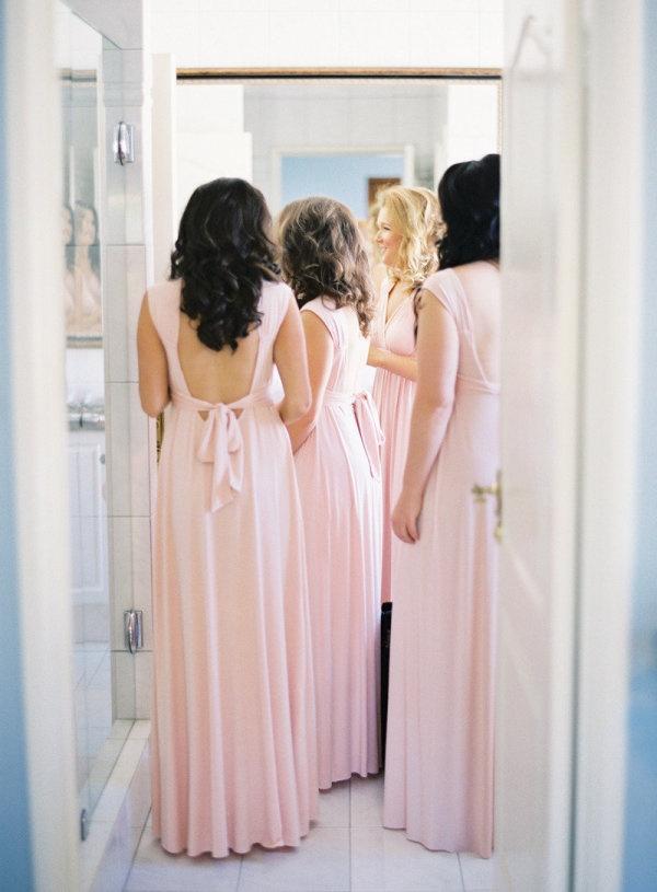 .: Pink Bridesmaid, Blushes Bridesmaid Gowns, Wedding Plans, Floral Design, Blushes Bridesmaid Dresses, Infinity Dresses, Dresses Design, Wedding Floral, Wraps Dresses