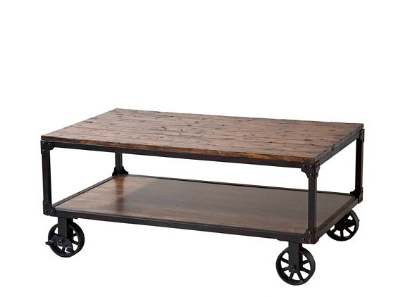 Holly Cart Coffee Table | Coffee Tables | Raymour And Flanigan Furniture