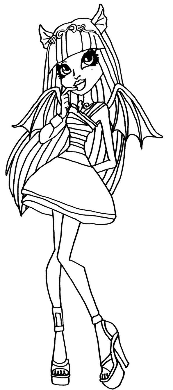 rochelle goyle monster high coloring page - Scary Monster High Coloring Pages