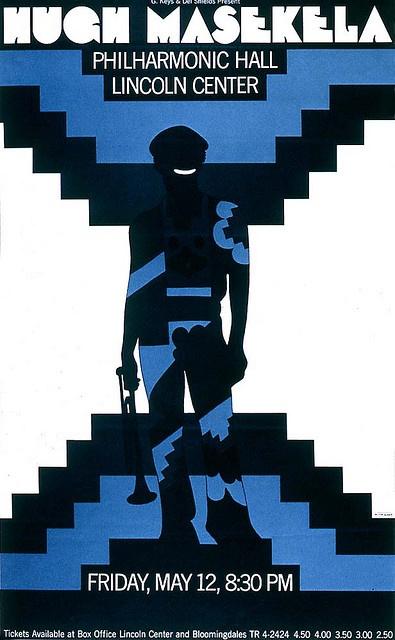 Eksempel på #symmetri i en plakat av den kjente amerikanske designeren Milton Glaser