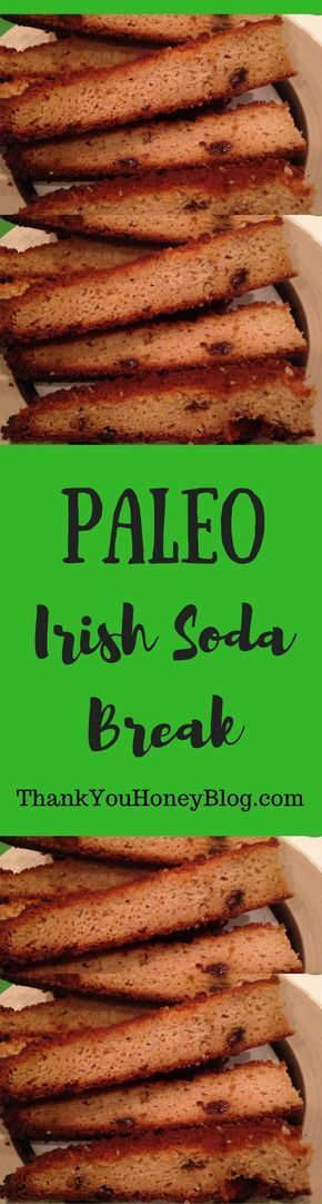 Check out this delicious recipe for Paleo Irish Soda Bread! Click through & PIN IT! Follow Us on Pinterest + Subscribe to ThankYouHoneyBlog{dot}com, Paleo Irish Soda Bread Recipe, Paleo, St. Patrick's Day, Irish, Paleo Irish Soda Bread, Shamrocks, March 17, St. Patrick, Irish Soda Bread, Clean Eating, Corned Beef & Cabbage,