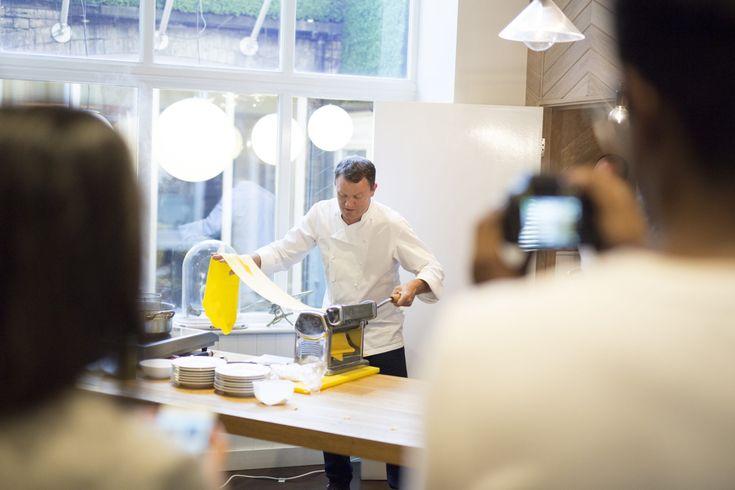 Squid tagliatelle & zucchini pasta recipe with Theo Randall - Belong with Hotel Indigo