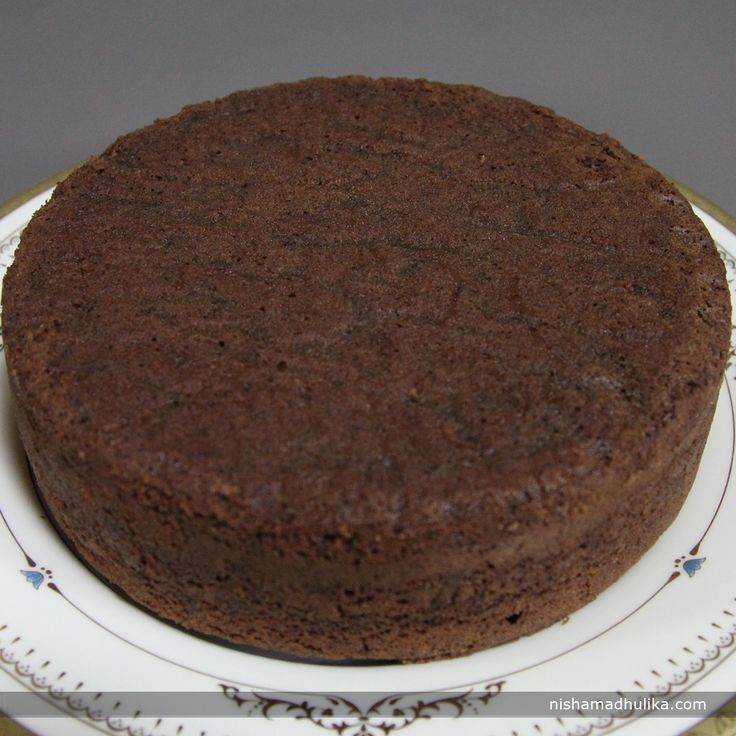 Eggless Chocolate sponge cake taste really yummy. The taste of this cake is rich and moist and it just melts in mouth.  Recipe in English - http://indiangoodfood.com/2035-eggless-chocolate-cake-recipe.html (copy and paste link into browser)