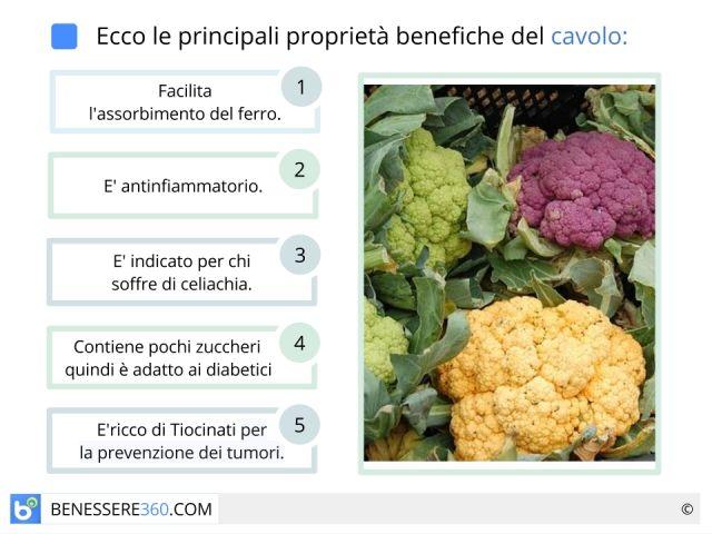 Cavolfiore: proprietà, calorie, benefici e valori nutrizionali