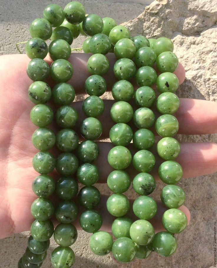 Купить Нефрит 10 мм Байкальский шар гладкий бусины камни для украшений