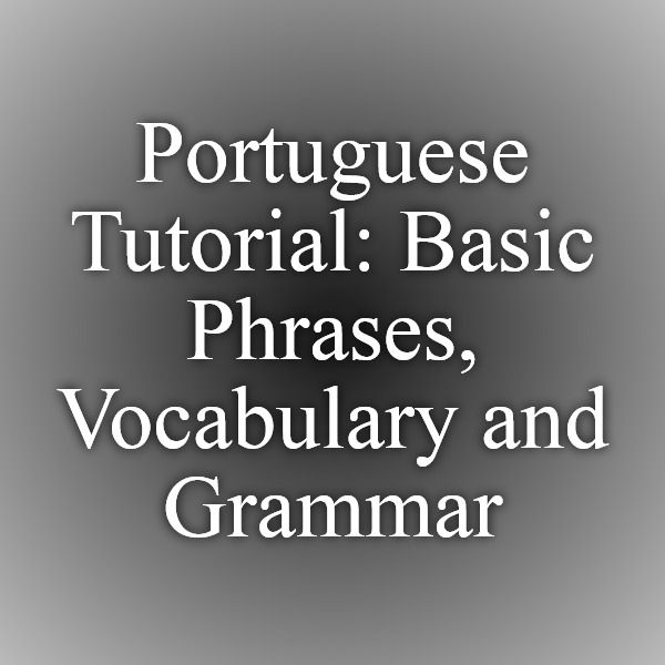 Portugal Travel Guide: Portuguese Phrasebook. Useful ...