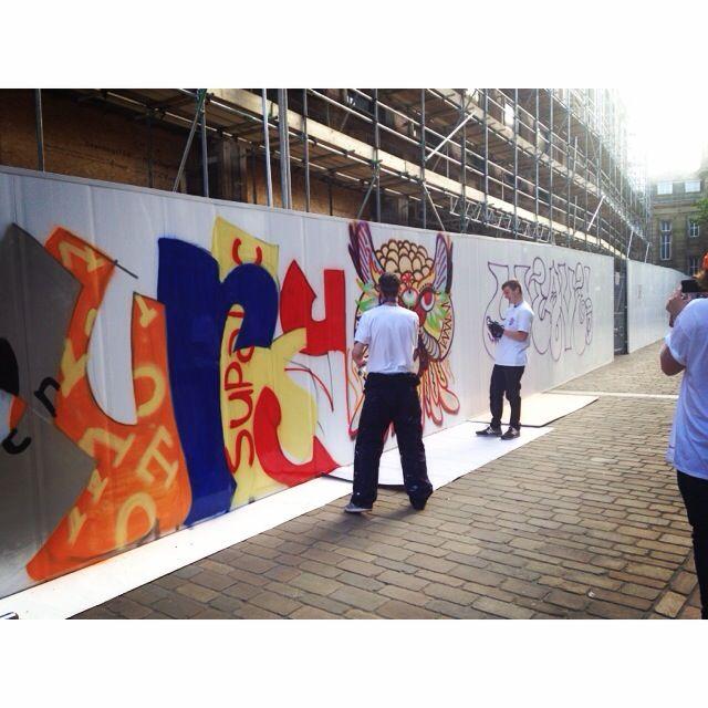 Blackburn is Open Street Party #biostreetparty #blackburnisopen #blackburn #streetparty #streetart #graffiti #spraypaint @weave_store