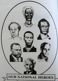 Jamaican national heroes  and well respected people. Nanny of the maroons, sir Alexander Bustamante, George William Gordon, Marcus Mosiah Garvey, Paul Bogle, Sam Sharpe, Norman Washington Marley.