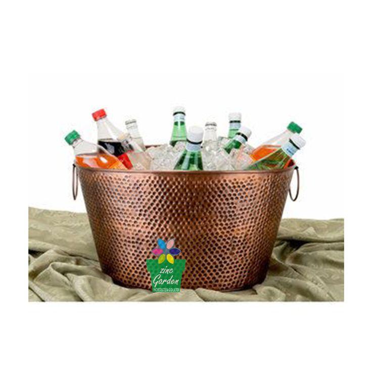 Wholesale beer wine chiller metal ice bucket for bar