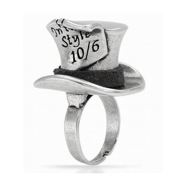 - Disney Couture Alice Wonderland Mad Hatter Ring $26.99 found on Polyvore