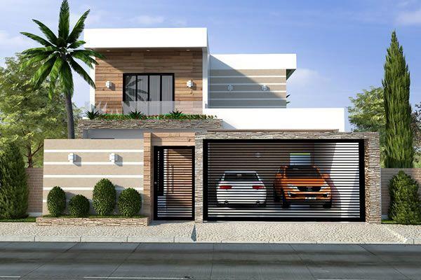 Planta de sobrado com telhado embutido - Projetos de Casas - Modelos de Casas