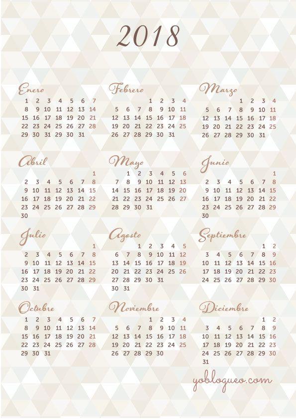 Ya tenemos los calendarios de yoblogueo para el 2018 telos vas a perder? porque hay muchos modelos gratis y en alta resolución para imprimir en PDF, este es muy lindo el modelo triangulos color arena, calendarios-2018-gratis-imprimir-triangulos