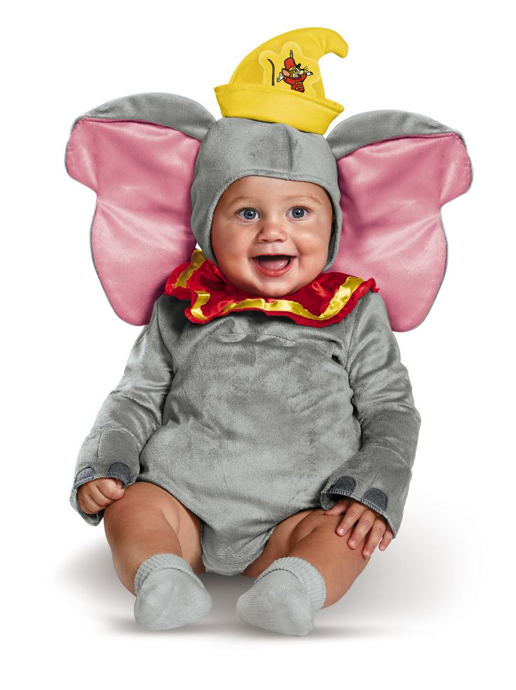 Let Baby soar this Halloween! Baby will be the cutest peanut in the Dumbo Deluxe Infant Costume which features a detachable tail, padded tummy and character headpiece. See more Halloween costume ideas for Baby at DisneyBaby.com. #DisneyBaby #DisneyHalloween