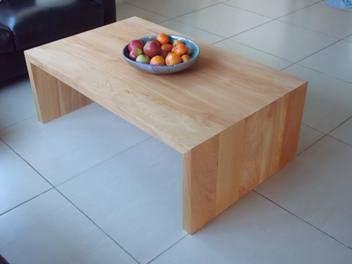 Handcrafted Macrocarpa Waterfall Coffee Table : Handmade in NZ