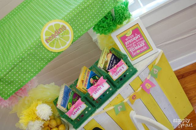 Pink Lemonade Classroom Design Kit ~ Simply Sprout lemonade stand reading corner for the classroom