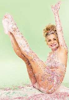 "My idol in sprinkles.  Amy Sedaris pin up poster from ""I Like You: Hospitality Under the Influence"""