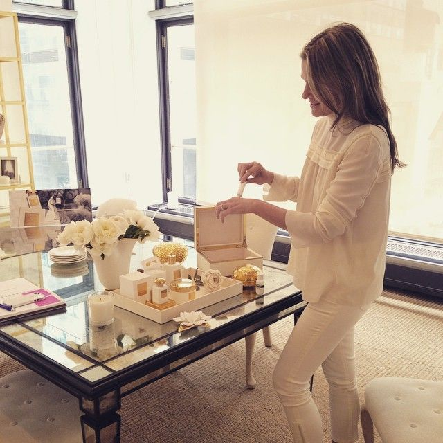 """""""All white at the office for a meeting with @garancedore"""""""