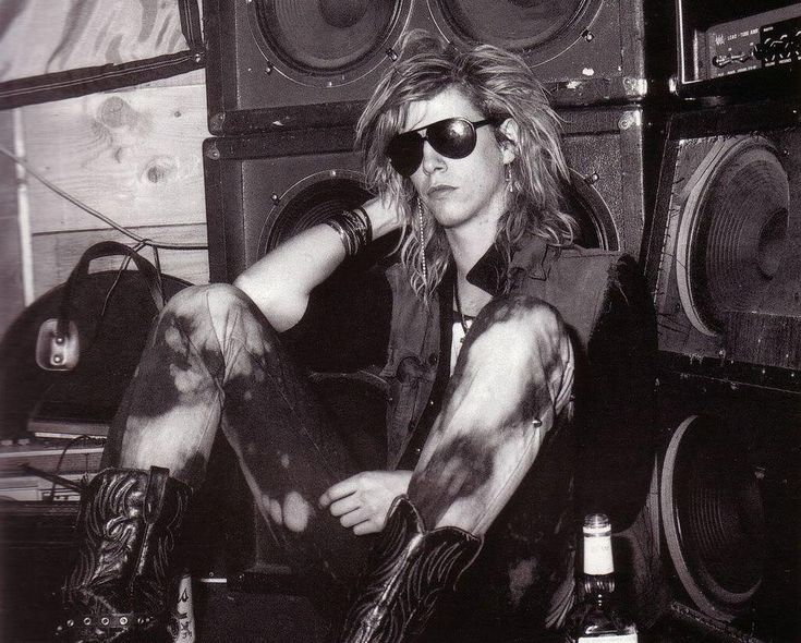 Duff McKagan from Guns 'N Roses. I have loved him since the 80's. He wrote an incredible book called It's So Easy And Other Lies. you should read it.