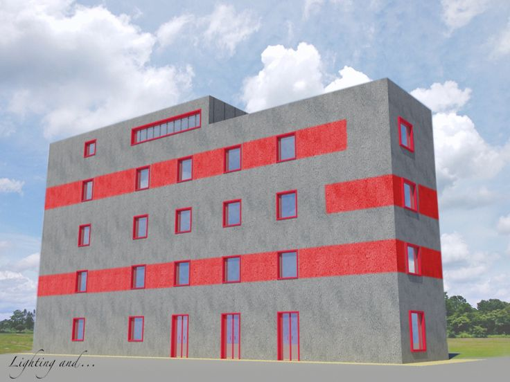 Rendering for the facade of a building before its construction in Milan. #lightingand #light #render #facade #design #facciata #innovation #innovazione #creativity #creatività #luce #idea #materials #materiali #colors #colori #rosso #red #3d #rendering #milano #milan #construction #building #edificio #diversity #paint #painting #italy