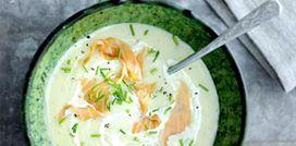 Recept:   romige aardappelsoep met zalm