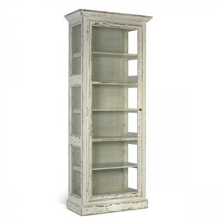 Smal vitrine i flot vintage look