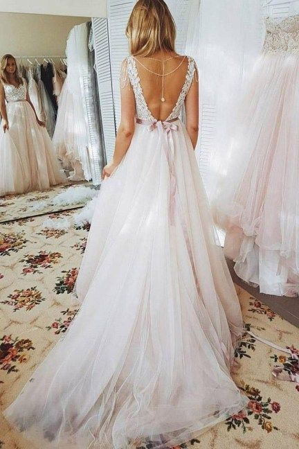 55 Stylish Open Back Wedding Dresses Ideas For Spring | Dress ideas ...