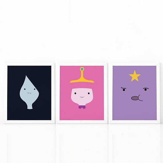 set of 3 Adventure Time Lumpy Space Princess Princess #Nursery #nurseryprints #nurserydecor #etsy #shooshprints #nurserywallart #nurseryprint #digitalprint #wallart #nurserydecor #kids #kidsdecor #etsyseller #etsyshop #decoration #printable #printdesign #printableart #printableart #girlsroomdecor #kidsroomdecor #boysroomdecor #print #adventuretime
