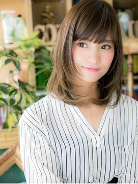 カバーヘア ブリス 北浦和西口店(COVER HAIR bliss) *+COVER HAIR+*…斜めバング&ヌーディーストレートで透明感☆a