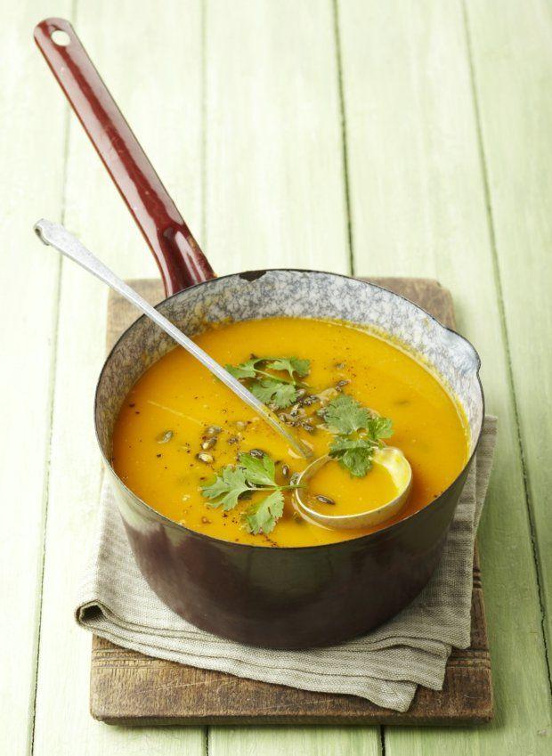 Dýňovo-pomerančová polévka