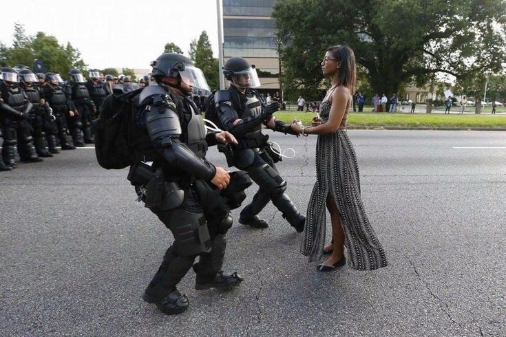 Leshia Evans being arrested at Baton Rouge. Pic by Jonathan Bachman/Reuters. Please click to enlarge.