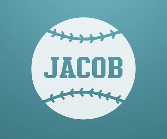 Items Similar To Custom Boys Name Baseball Softball Bedroom Nursery Vinyl Decal Wall Art Home Decor Entryway Hanging On Etsy