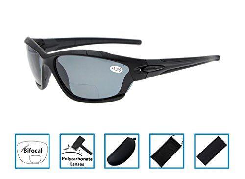 Gafas de sol bifocales Gr8Sight Protección UV 400 para la conducción de esquí Golf Running Ciclismo TR90 Diseño de marco irrompible para hombres y mujeres Negro mate Marco Gris Lente +1.5 #Gafas #bifocales #GrSight #Protección #para #conducción #esquí #Golf #Running #Ciclismo #Diseño #marco #irrompible #hombres #mujeres #Negro #mate #Marco #Gris #Lente