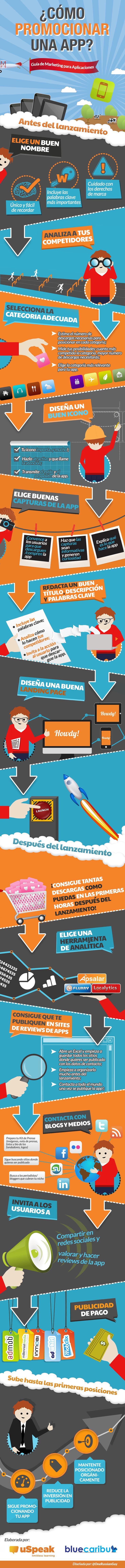 Cómo promocionar una aplicación para móviles #infografía en español
