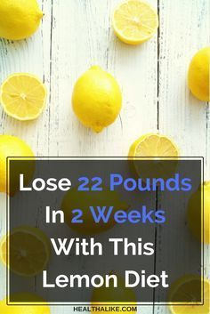 Lose 22 Pounds In 2 Weeks With This Lemon Diet