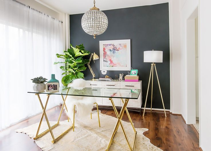 Before and After: A YouTube Star's Glam Office Makeover via @MyDomaine
