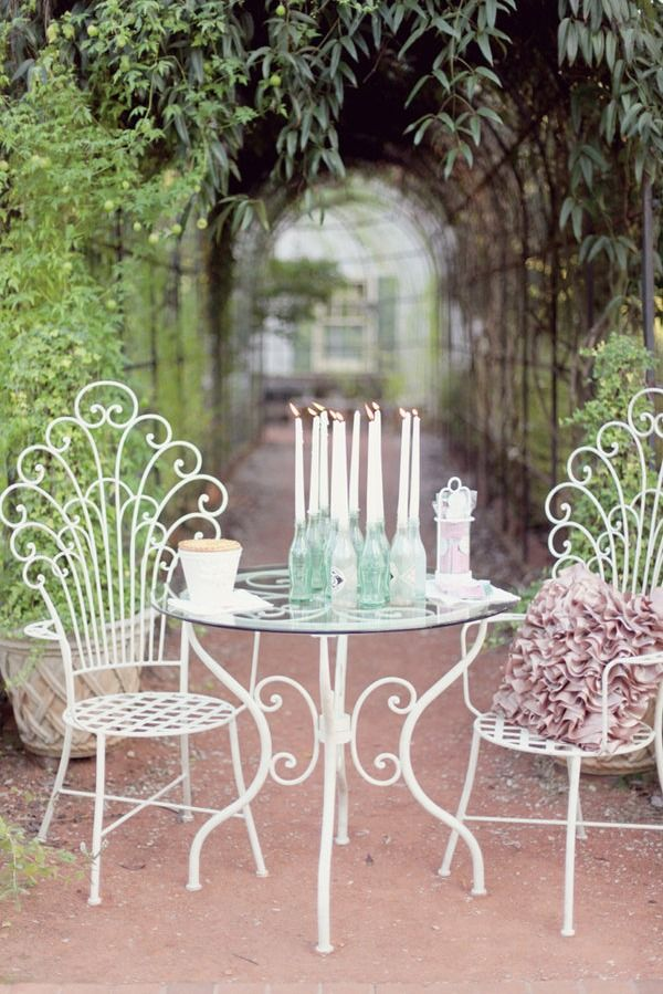 Lovely garden spot! #romantic #chairs