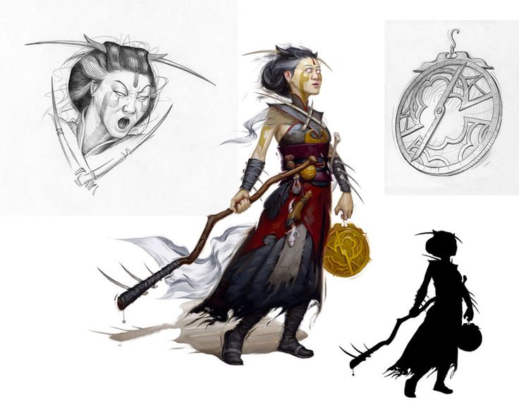 Warlocks Dragons: Human Witch (from The 5e Dungeons & Dragons Player's