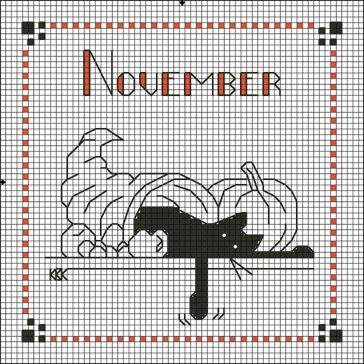 Gallery.ru / Photo # 21 - Calendrier chat noir - Nataz