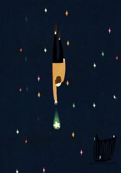 Star, Oamul Lu via Eightsix Artists on tumblr...click on the image to soar through the stars :-)