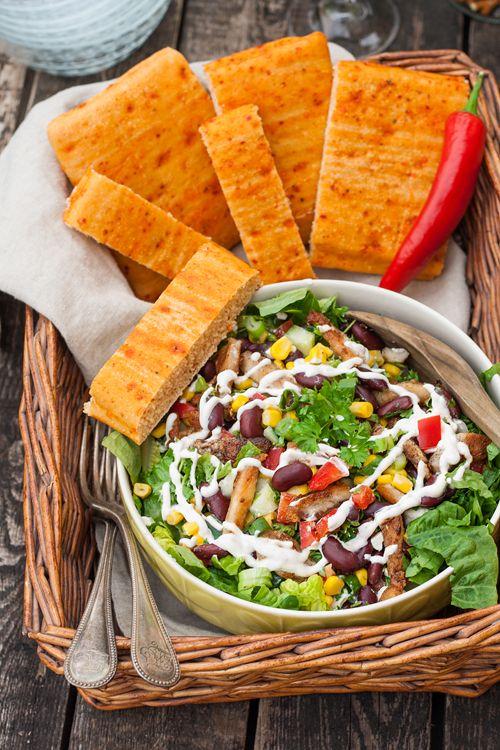 die besten 25 mexikanischer salat ideen auf pinterest hawaiianische beilagen bicmac salat. Black Bedroom Furniture Sets. Home Design Ideas