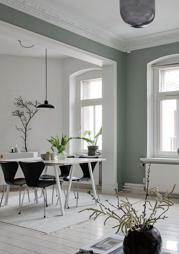 Fresh home in green - via Coco Lapine Design blog