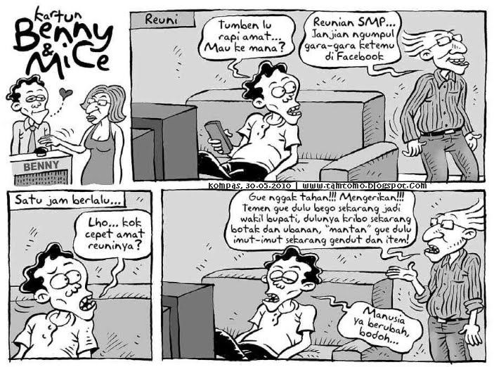Kartun Benny & Mice - Kompas 30 Mei 2010: Reuni SMP