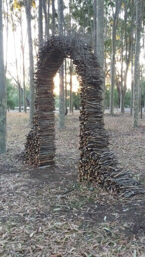 Stick Arch! - way to use all the dead branches and make a focal point