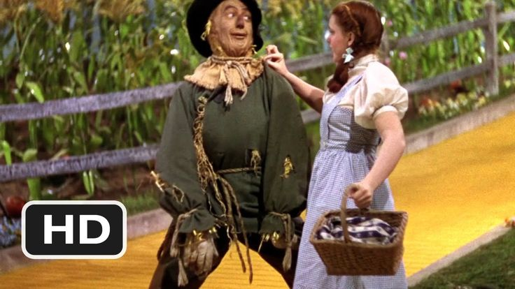 THE WIZARD OF OZ ~ If I Only Had A Heart and We're Off To See The Wizard ~ Ray Bolger (The Scarecrow), with Judy Garland (Dorothy). (2:41) [Video]