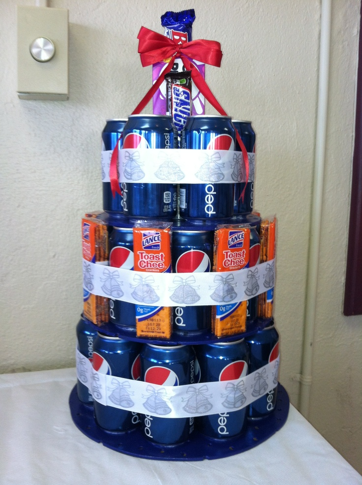 Pepsi Cake With Some Of Hisher Favorite Things BUT WITH