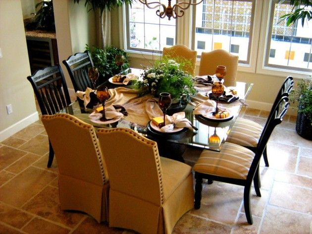 Dining Room Beautiful Design Round Table Cool Brown Color Good Square Nice