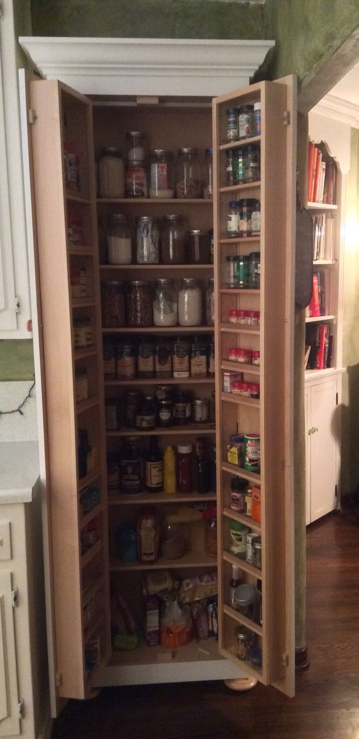 Tall Skinny Pantry With Bun Feet Kitchen Pinterest