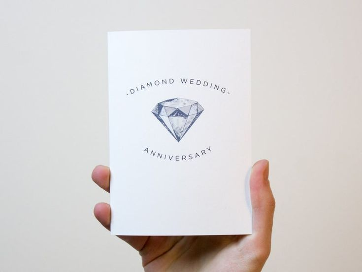 diamond wedding anniversary card 60 year wedding